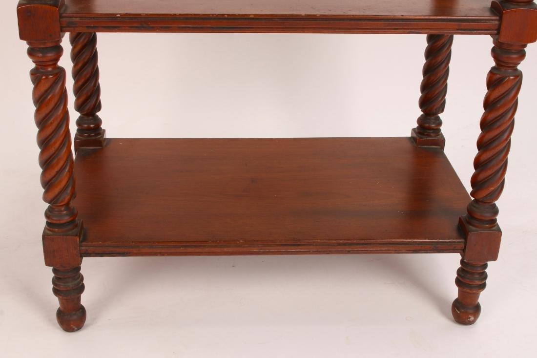 THREE TIER TURNED LEG SIDE TABLE - 4