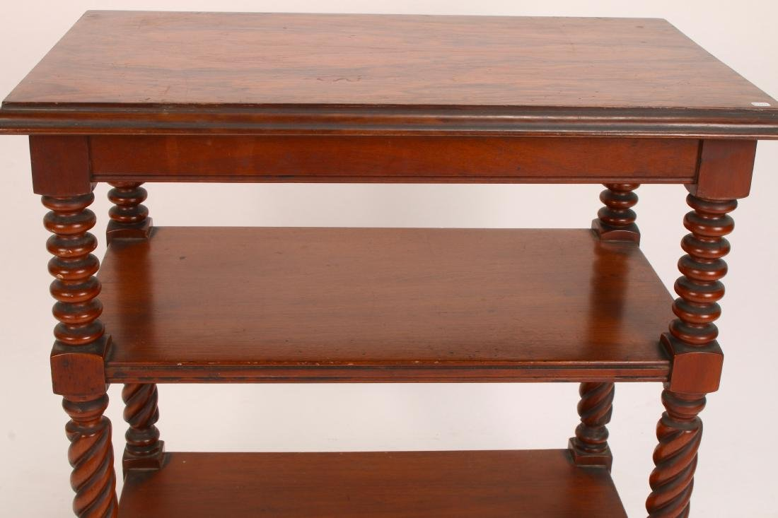 THREE TIER TURNED LEG SIDE TABLE - 5