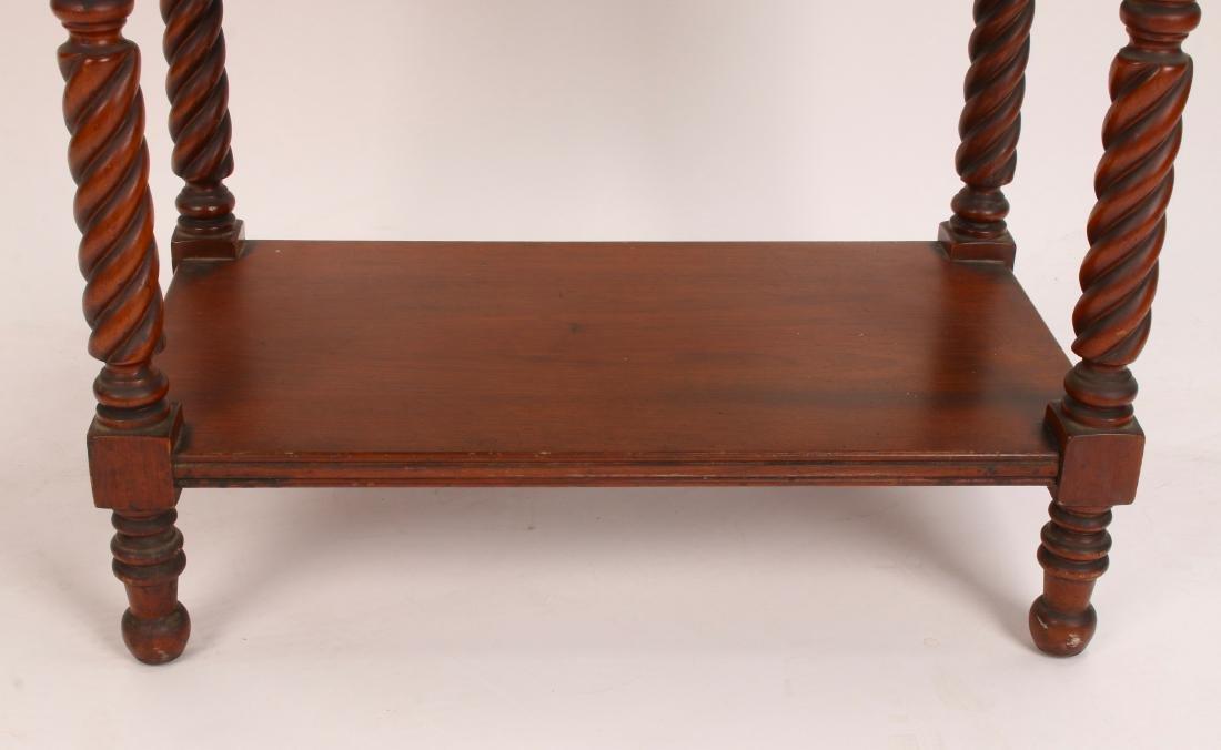 THREE TIER TURNED LEG SIDE TABLE - 8