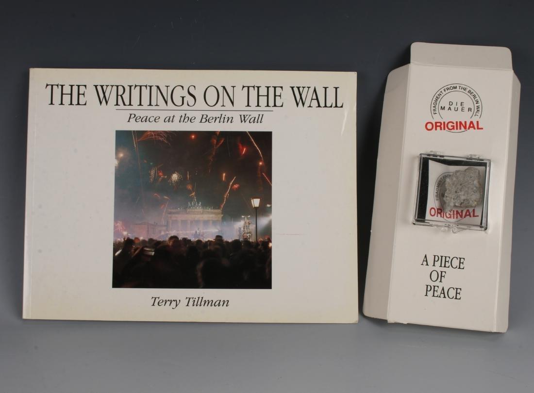 BERLIN WALL PIECE BY TERRY TILLMAN & BOOK