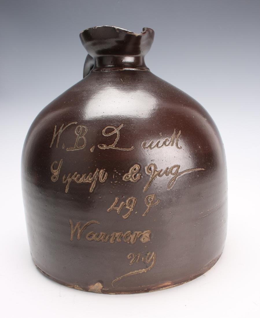 SALT GLAZED BROWN SYRUP JUG - 2