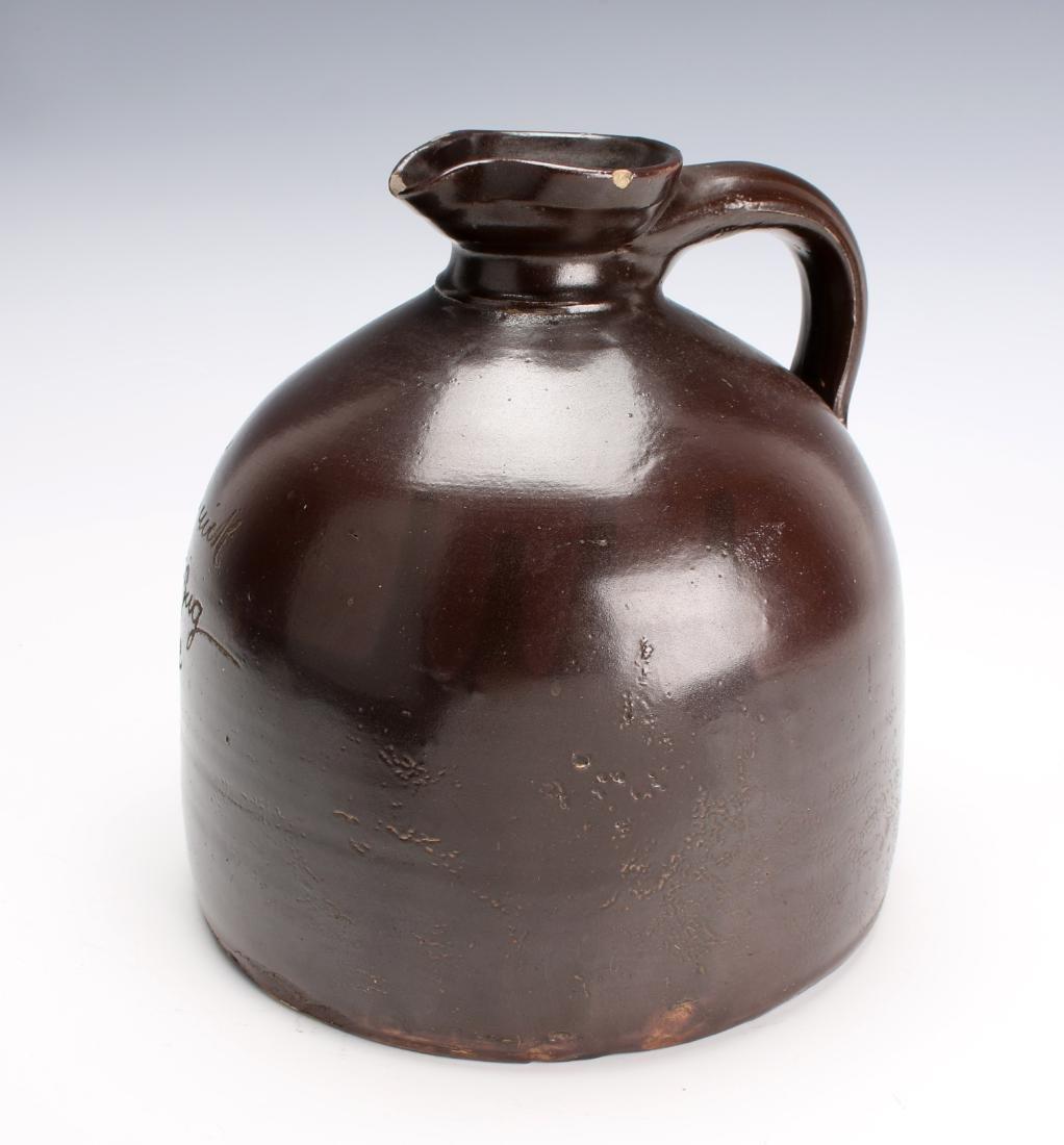 SALT GLAZED BROWN SYRUP JUG - 3