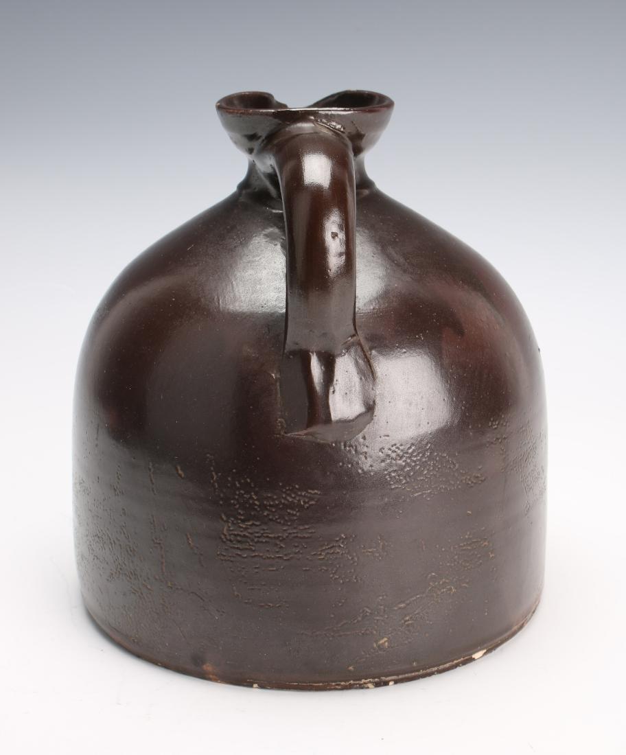 SALT GLAZED BROWN SYRUP JUG - 4