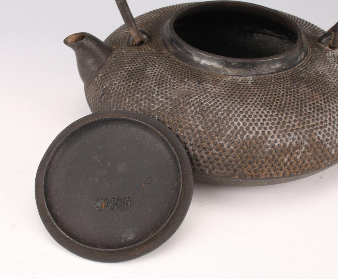 JAPANESE BRONZE TEA POT - 3