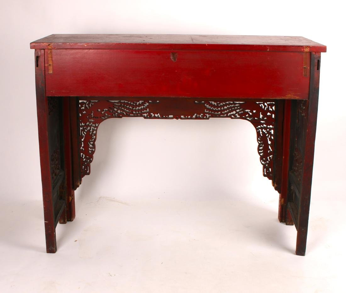 CHINESE STYLE CARVED SIDE TABLE - 10