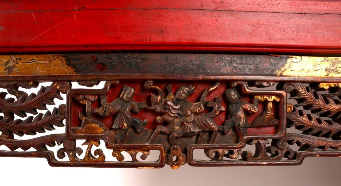 CHINESE STYLE CARVED SIDE TABLE - 7