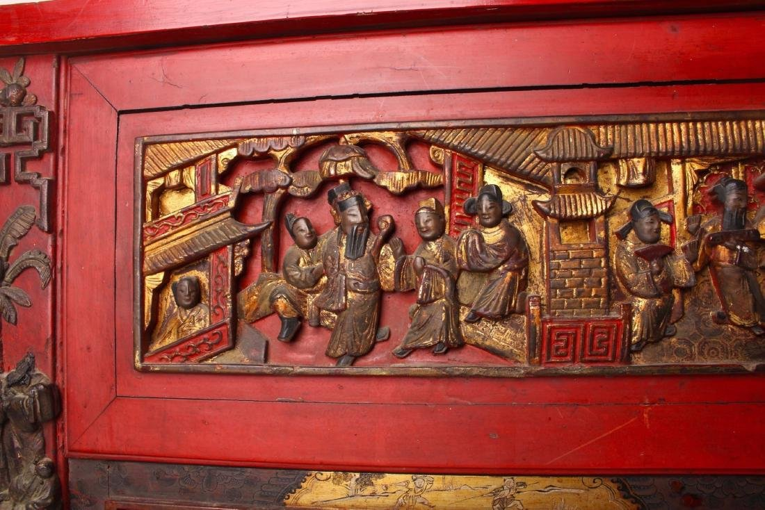CHINESE STYLE CARVED SIDE TABLE - 8