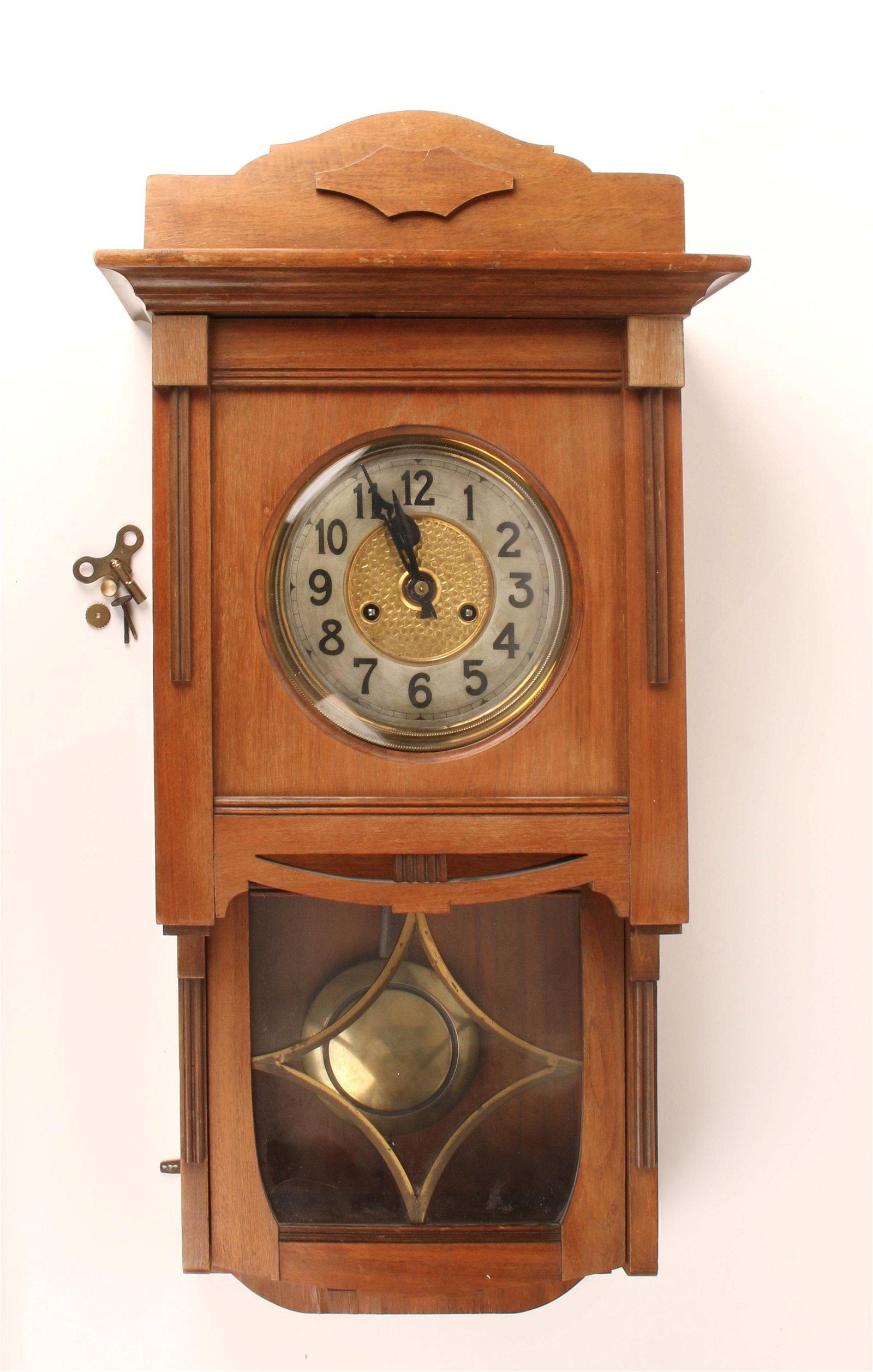 ANTIQUE GERMAN GUSTAV BECKER SILESIA WALL CLOCK