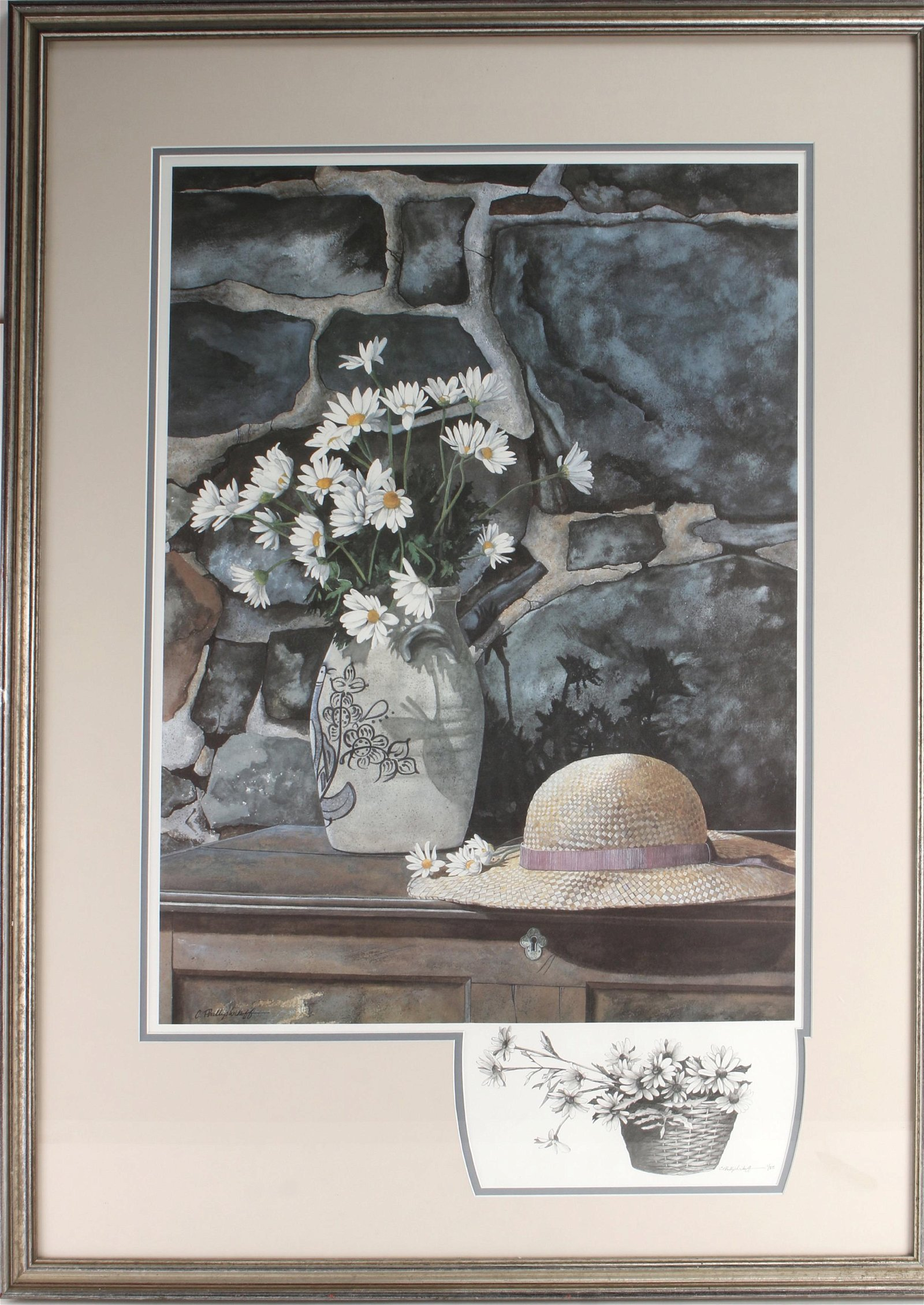 PAINTED SIGNED BY C. PHILLIP WIKOFF 1/25