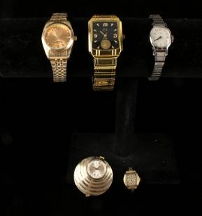 ASSEMBLED LOT OF 5 WATCHES