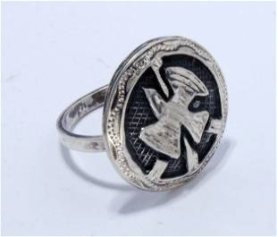 MEXICAN STERLING EAGLE RING