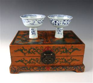 PAIR HIGH HEELED CUPS IN PRESENTATION BOX