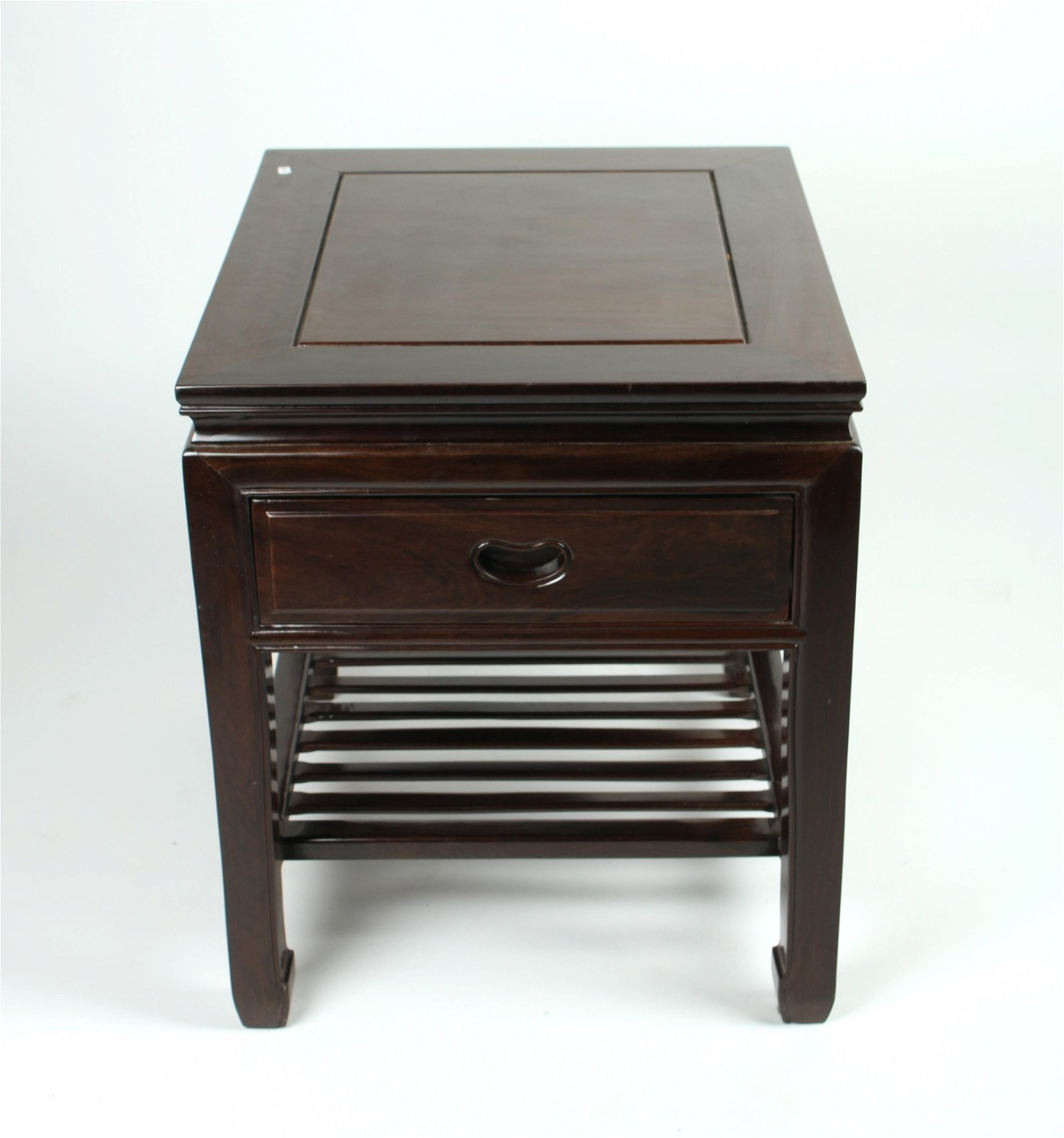 HANDSOME CHINESE ROSEWOOD END TABLE
