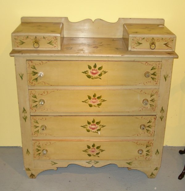 6: Painted cottage chest,