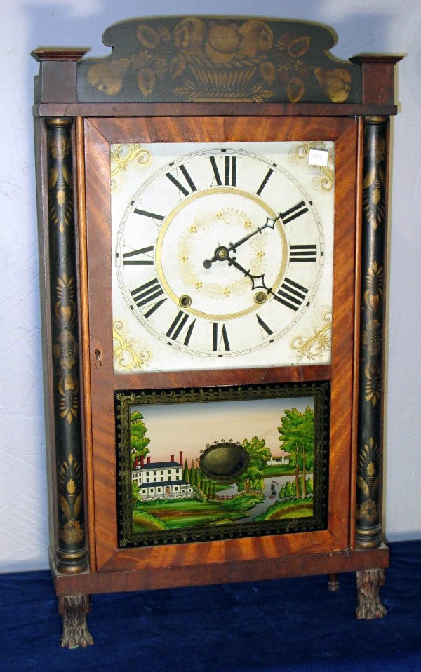 58: Stencil decorated shelf clock