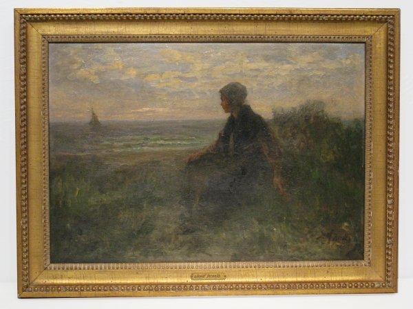 176B: Joseph Israels, oil on board