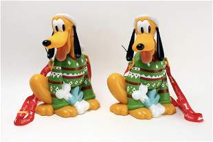 2 DISNEY PLUTO CHRISTMAS CARRYALL POPCORN BUCKET