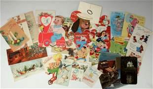 ASSEMBLED LOT VINTAGE GREETING CARDS 1960S