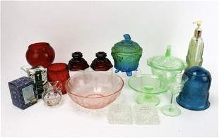 ASSEMBLED LOT OF DEPRESSION GLASS