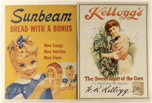 2 REPRODUCTION VINTAGE ADVERTISING TIN SIGNS