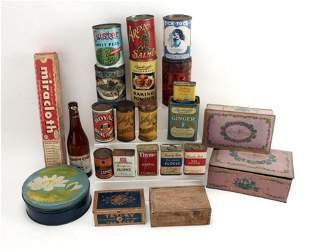 LOT OF OLD TINS & ADVERTISING