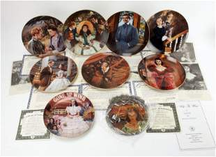 9 COMMEMORATIVE GONE WITH THE WIND PLATES