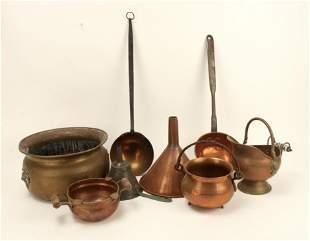 LOT OF VINTAGE COPPER & BRASS ITEMS