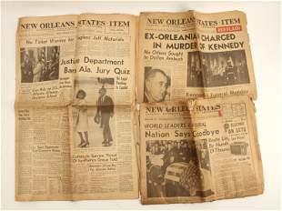 NEW ORLEANS NEWSPAPER KENNEDY ASSASSINATION 1963