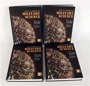 4 VOLUME ENCYCLOPEDIA OF MILITARY SCIENCE 1ST ED