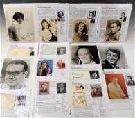 LOT OF HOLLYWOOD MOVIE STAR CELEBRITY AUTOGRAPHS