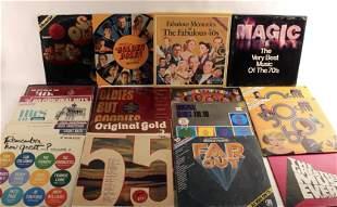 LARGE LOT OF OLDIES VINYL COMPILATION ALBUMS