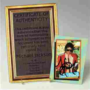MICHAEL JACKSON SIGNED COLLECTOR CARD