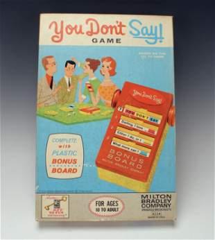 MILTON BRADLEY YOU DON'T SAY BOARD GAME 1963