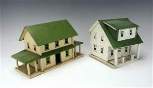 VINTAGE HAND MADE MODEL RAILROAD HOUSES HO SCALE