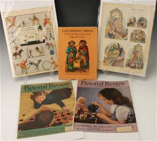 2 PICTORIAL REVIEW COVERS & CATCHPENNY PRINTS