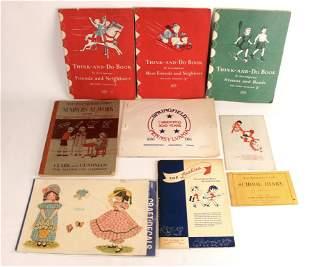 VINTAGE CHILDREN'S SCHOOL WORK BOOKS