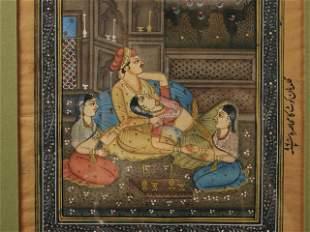 INDIAN MINIATURE PAINTING MANUSCRIPT PAGE
