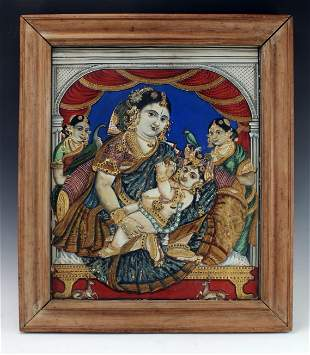 DIMENSIONAL PAINTING INDIAN GODDESS PAINTING