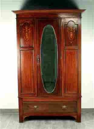 EDWARDIAN STYLE SINGLE DOOR WARDROBE ARMOIRE