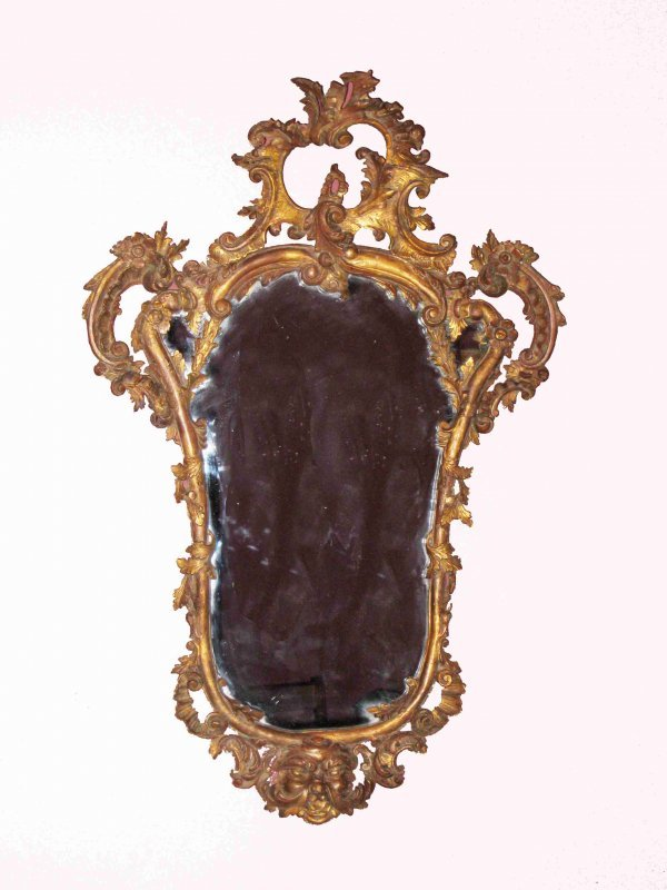 14: Carved Giltwood Mirror