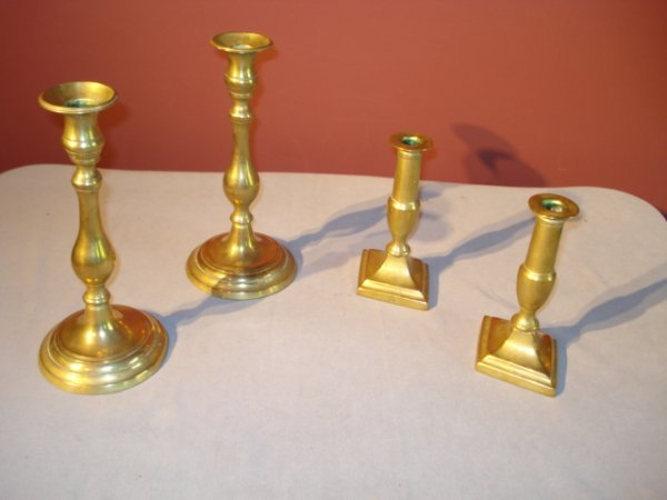 16: Brass Candlesticks