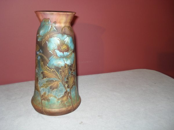 12: Royal Bonn, German art glass vase