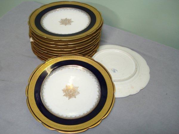 18: twelve porcelain dessert plates