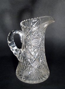 023: Cut glass pitcher