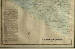 VINTAGE MAP OF CHARLESTOWN, PA CHESTER COUNTY