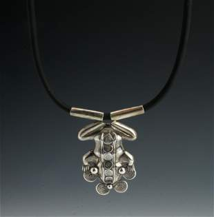 CHABAHLL STERLING PRE-COLUMBIAN FROG NECKLACE