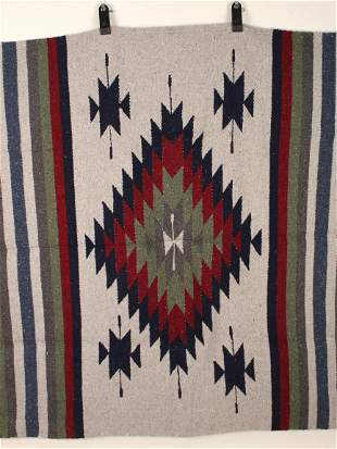 VINTAGE MEXICAN BLANKET THROW