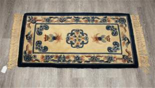 CHINESE WOOL FLORAL AREA RUG