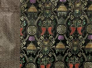 CHINESE SILK BROCADE TABLE COVERING