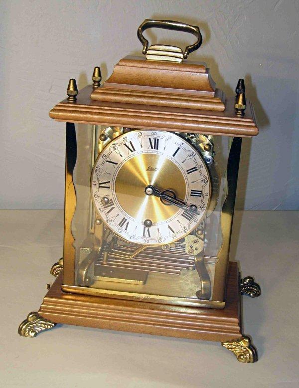 17: Mantel clock with quarter hour chimes